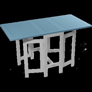 Table de jardin console en acacia couleur muscade