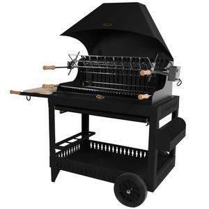 Barbecue Irissary avec hotte de couleur noir