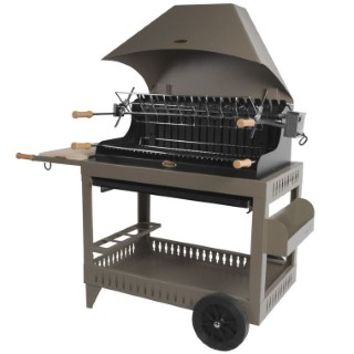 Barbecue Irissary avec hotte couleur taupe