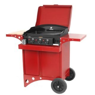 Plancha au gaz Kitchen rouge