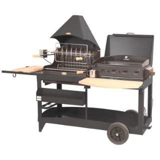 Plancha / Barbecue mixte Mendy Alde noir
