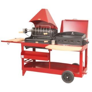 Plancha / Barbecue mixte Mendy Alde rouge