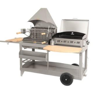 Plancha / Barbecue mixte Mendy Alde inox