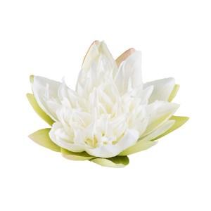 Fleur de lotus blanche artificielle flottante – 17 cm