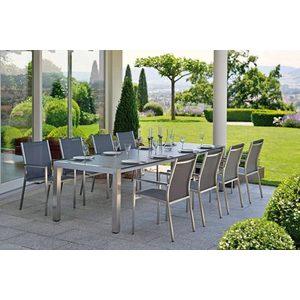 Table à rallonge Stern en inox & HPL Silverstar coloris ferro 214/294 cm 276894