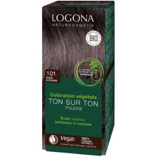 Soin colorant bio teinte noir intense en boite de 100 g 277090