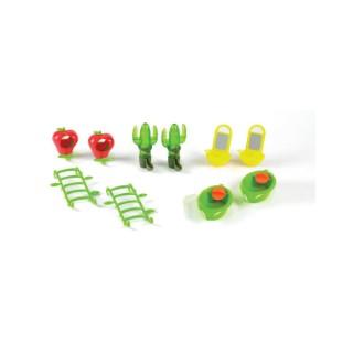 Pack déco cage et jouets perruches 10 pièces