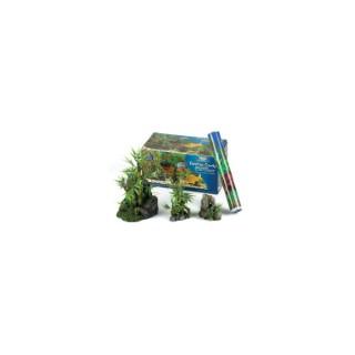 Kit démarrage décoration aquarium Bambou 4 décors