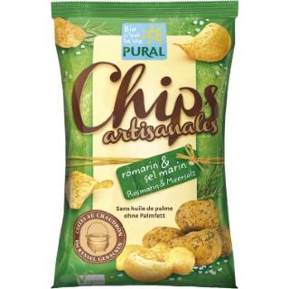 Chips romarin / sel marin artisanale Chips romarin / sel marin artisanale 120 g PURAL