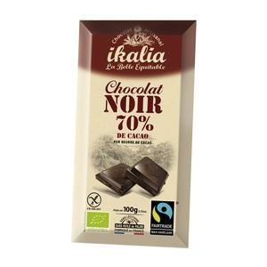 Tablette de chocolat noir 70% 100 g