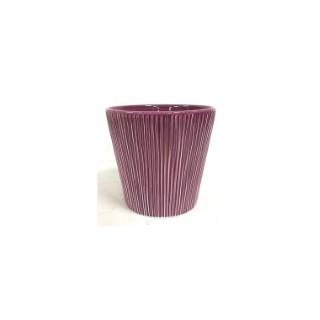 Cache-pot Riscado violet Ø 12,5 x H 12 cm