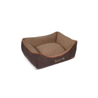 Lit à boite thermique marron pour chien Scruffs taille S 50 x 40 cm 279103