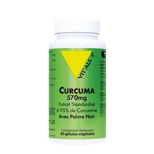 Extrait  de curcuma standardisé avec poivre noir en format 60 gélules 279685