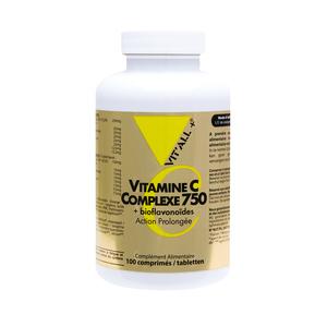 Vitamine C complexe 750 vit'all + en format de 100 comprimés 279697