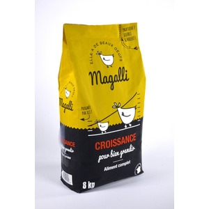 Aliment complet de croissance pour volaille en sac jaune de 8 kg 279778
