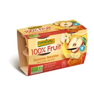 Dessert de fruits bio pomme banane - 400 gr 279837