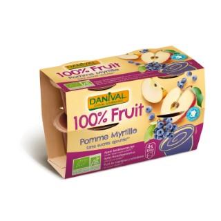 Dessert de fruits myrtille bio DANIVAL