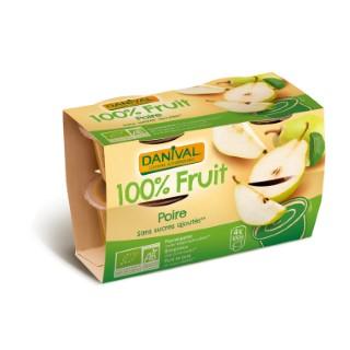 Dessert de fruits bio poire - 400 gr 279848