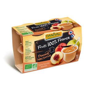 Dessert de fruit bio 100% France Pomme nectarine DANIVAL