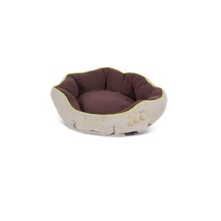 Panier donut brun pour chien Scruffs écologique taille S Ø 45 cm 280253
