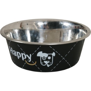 Écuelle en inox happy noire de diamètre 14 cm 280660