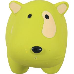 Jouet en latex chien jaune dimension 7x9x17,5 cm 280701