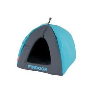 Igloo d'intérieur pour furet bleu et gris 26x24,5x27 cm