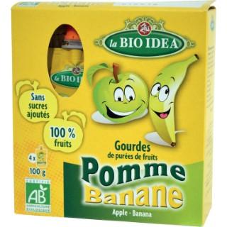Gourdes pomme-banane Bio Idea 4x100 g LA BIO IDEA