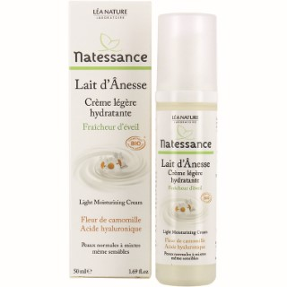 Crème légère hydratante lait d'ânesse bio Natessance 50 ml 281114