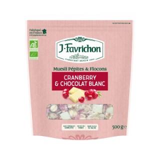 Muesli au cranberry et au chocolat blanc - 500 gr