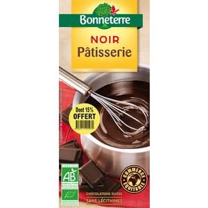 Chocolat noir patissier 60% dont 15% gratuit BONNETERRE