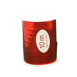 Bolduc métal reflex rouge 10 m de long