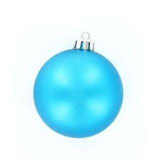 Boules en plastique bleu mat et brillant x 8 284547