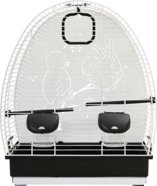 Cage à oiseaux Soleil 41 blanche et noire