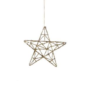 Étoile dorée à suspendre D 15cm