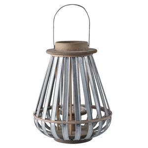 Lanterne goutte métal et bois