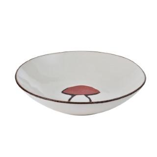 Assiette creuse champignon en céramique 22 cm de diamètre