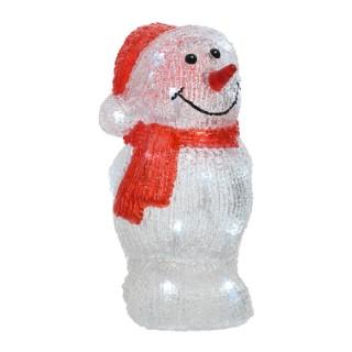 Bonhomme de neige LED en acrylique 18 x 18 x 29 cm 286490