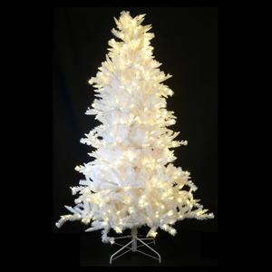 sapin artificiel bi mati re blanc 1 80m 590 led blanc chaud botanic. Black Bedroom Furniture Sets. Home Design Ideas