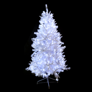 Sapin artificiel bi mati re blanc 1 80m 590 led blanc for Sapin led interieur