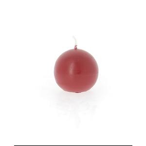 Bougie Boule métal rouge 287605