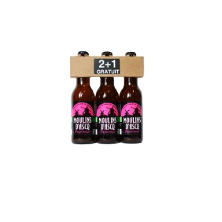 Tripack fruits rouges bio 33cl 2+1 gratuit MOULIN D'ASQ