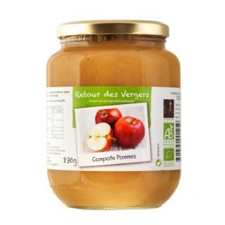 Compote de pommes bio en pot de 830 g 288349