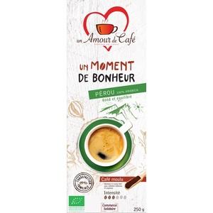 Café bio moment bonheur  100% Pérou 250 g