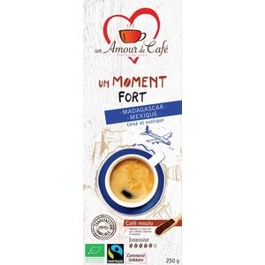 Café bio moment fort 50% Mexique 50% Madagascar 250 g