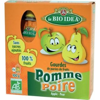 Gourdes pomme-poire 4 x 100 g LA BIO IDEA