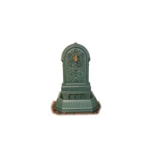Fontaine Florale couleur vert antique + robinet Colvert - 87 cm de haut 291839