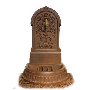 Fontaine Floraison couleur brun antique et robinet Colvert - 98 cm de haut 291850