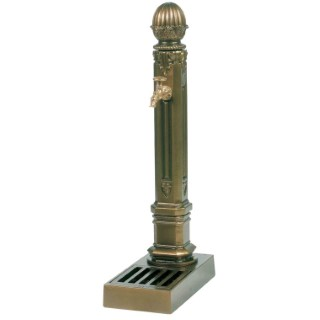 Borne-fontaine Griffon avec vasque couleur vieux bronze – 110 cm de haut 291900