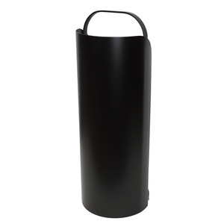 Serviteur de cheminée en chaudron noir en acier Ø 20,5 x 56 cm 292215